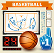 Basketball Play Vector Design Elements